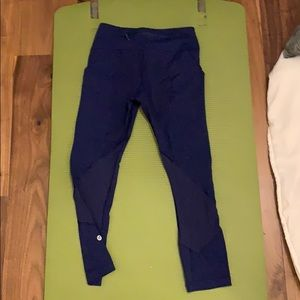 blue mesh lululemon leggings